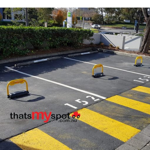 smart-phone-parking-bollard-installed-outdoors-raised-tms-apl3-and-tms-apl4
