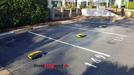 smart-phone-parking-bollard-installed-outdoors-lowered-tms-apl3-and-tms-apl4