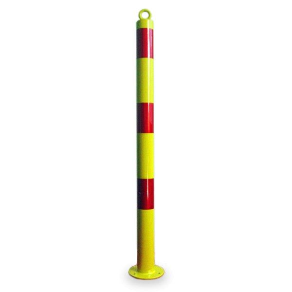 Fixed Steel Bollard Yellow 900 mm