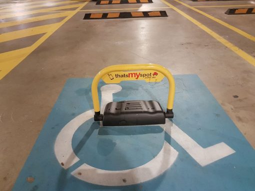 smartphone-parking-bollard-installed-in-disabled-parking-tms-apl3-and-tms-apl4