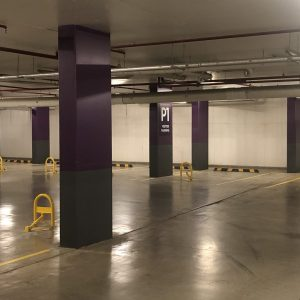 heavy-duty-manual-parking-bollard-with-padlock-tms-mpl2-and-tms-mpl1-installed-indoors