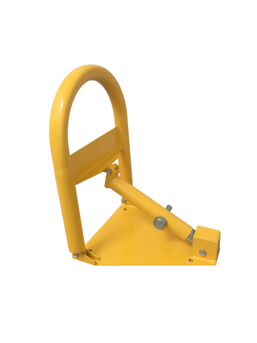 heavy-duty-manual-parking-bollard-with-padlock-tms-mpl2-upright-side-view