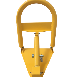 Heavy-duty-manual-parking-bollard-with-padlock-tms-mpl2-upright-rear